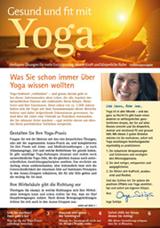 Konzept und Text Newsletter Gesund und fit mit Yoga